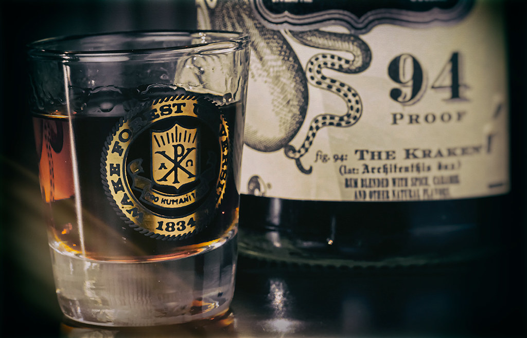 Wake Forest University and Kraken black rum