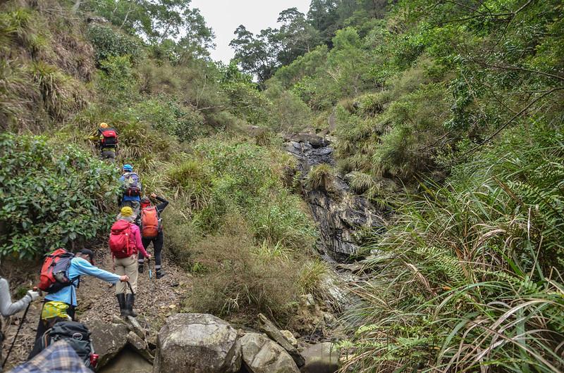 枋山溪上游乾瀑陡峭腰繞地形 (3)
