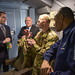 Dr. Will Roper, Assistant Secretary of the Air Force for Acquisition, Technology and Logistics, and Senior Master Sgt. Jay Guldjord, 18th Air Refueling Squadron boom operator, discuss how the KC-46 Pegasus compares to legacy tankers during the delivery flight Jan. 25, 2019. The flight is the first of many while under Air Force's possession, which will extend the Air Force's strategic communication and physical reach. (U.S. Air Force photo by Staff Sgt. Chris Thornbury)