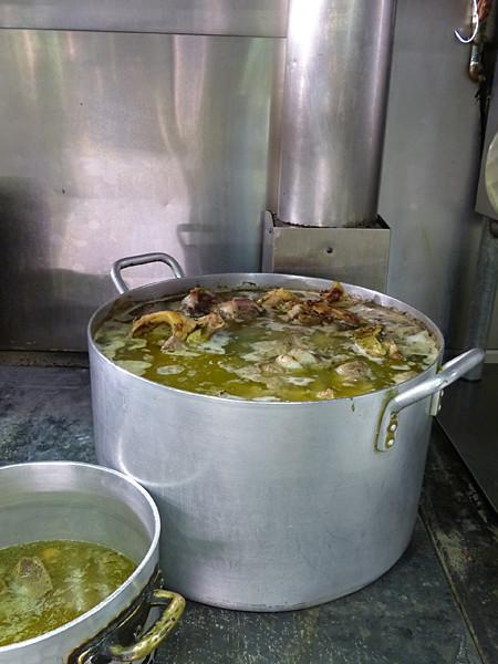 bouillon en préparation