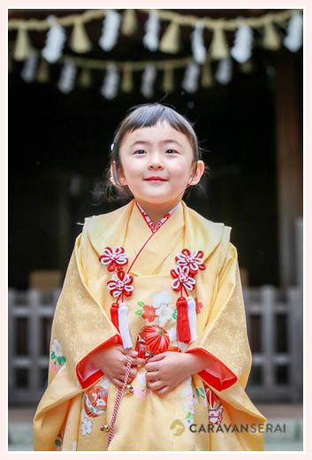 春の七五三のロケーション撮影 深川神社(愛知県瀬戸市)
