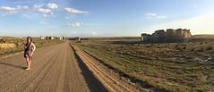 Panorama Chalk Mounds Western Kansas