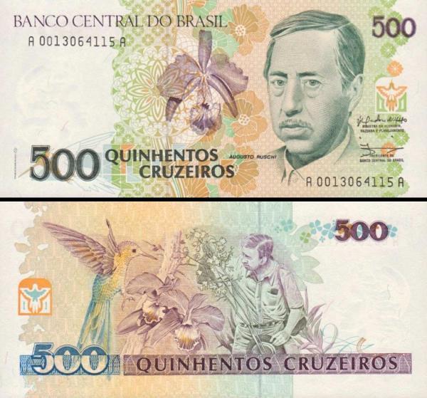 500 cruzeiros Brazília 1990, P230