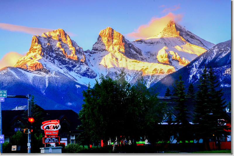 早晨的三姊妹山(The Three Sisters, Canmore) (3)