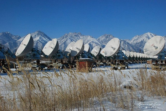 Badary radiotélescope solaire, vallée de la Tounka © Bernard Grua