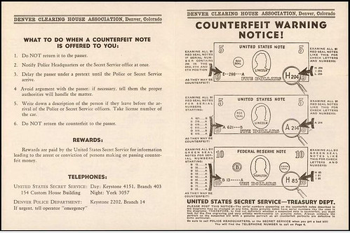 Currency Counterfeit Warning Notice