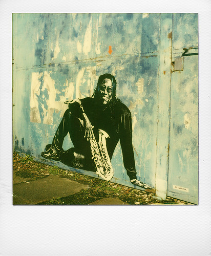 Clarence Clermons by  Jef Aerosol at Marquette-lez-Lille