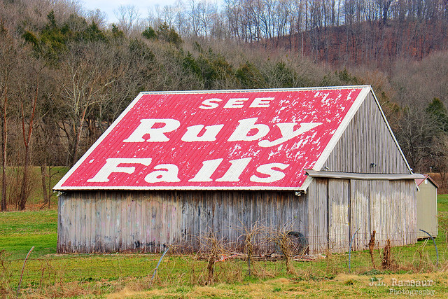 See Ruby Falls barn - Wartrace, Tennessee