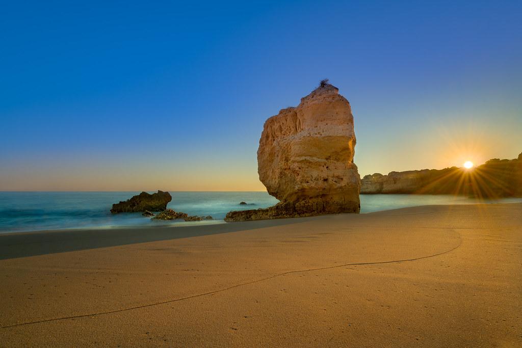Sunset at Praia de São Rafael, Algarve, Portugal