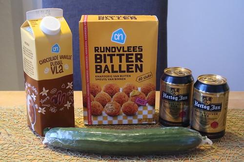 Aus den Niederlanden für das Abendessen mitgebrachte Zutaten