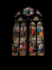 20080516 23605 0906 Jakobus Montbrison Kirche Fenster Ostern Magdalena