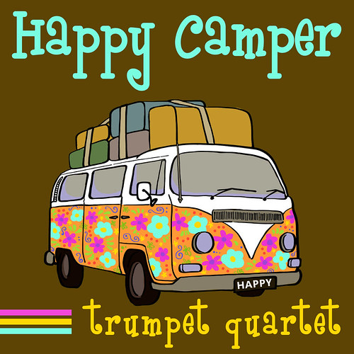 Happy Camper for Trumpet Quartet