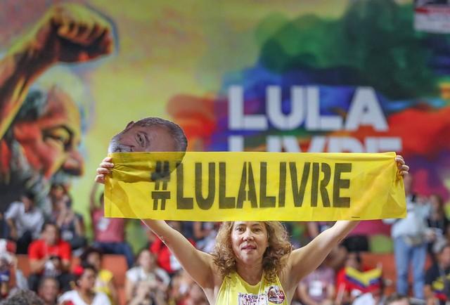 Encontro Nacional Lula Livre aconteceu neste sábado (18) em São Paulo