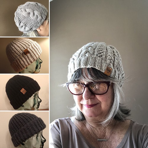Here are a few of all the beanies Lise has finished recently?