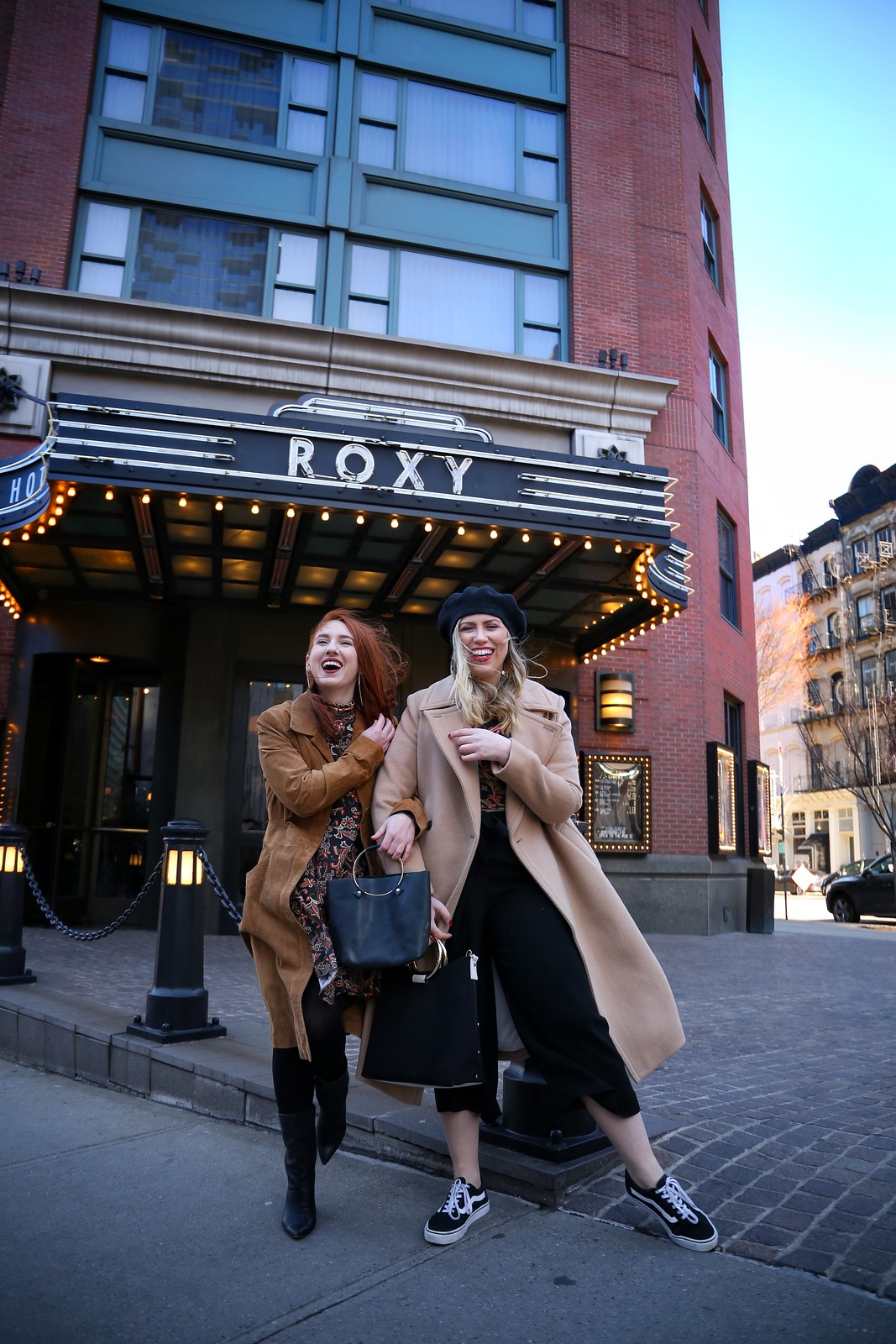 NYC Fashion Bloggers ASOS Paisley Print Winter Outfits Roxy Hotel Tribeca