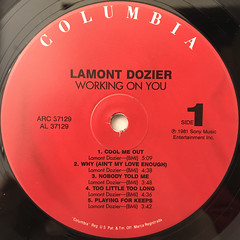 LAMONT DOZIER:WORKING ON YOU(LABEL SIDE-A)