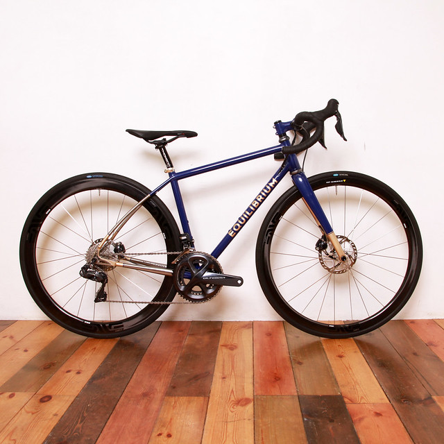 Equilibrium Cycle Works Titanium Road Bike Painted by Swamp Things