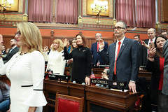 Rep. Arthur O'Neill takes the oath of office during opening day ceremonies of the 2019 General Assembly.