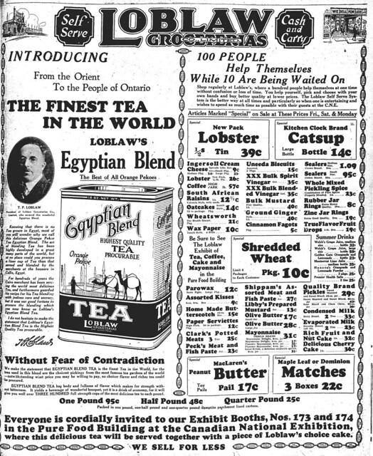 star 1926-08-26 loblaws ad with tp loblaw
