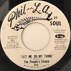 THE PEOPLE'S CHOICE:LET ME DO MY THING(LABEL SIDE-A)