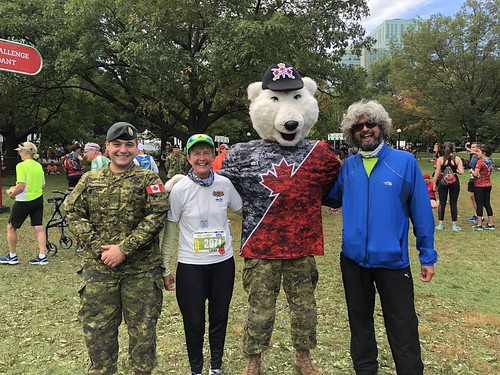 Army Run - L and P bear and army guy