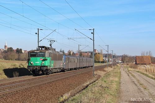 BB(4)25615 + RRR n°228 - AR140 - Train n°830118 Strasbourg-Ville > Sarrebourg