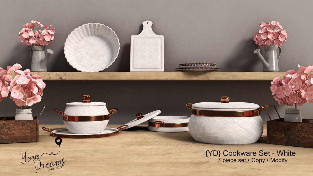 {YD} Cookware Set – White