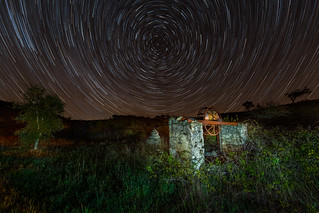 Star Trails Above A Forgotten Time