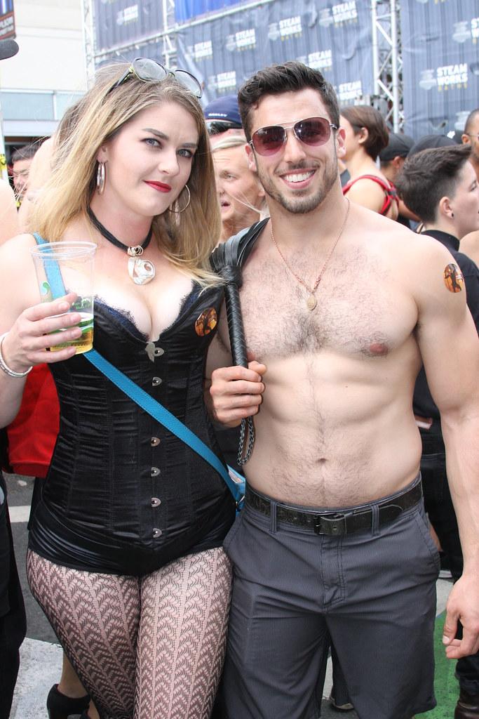 WHOA! DAMN SEXY COUPLE ! ~ FOLSOM STREET FAIR 2018 ! ( safe photo )