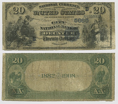 United States $20.00 (twenty dollars) national currency