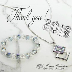 Thank You 2018... It's been a great year! And Many, Many Thanks to Love Fifth Avenue Collection's followers too. You are the best followers a profile could have !!! The Spellbinding Necklace: Extravagant and rich in both color and sparkle this neckpiece i