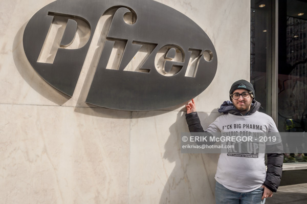 Picket the Profiteers: Protest at Pfizer World Headquarters