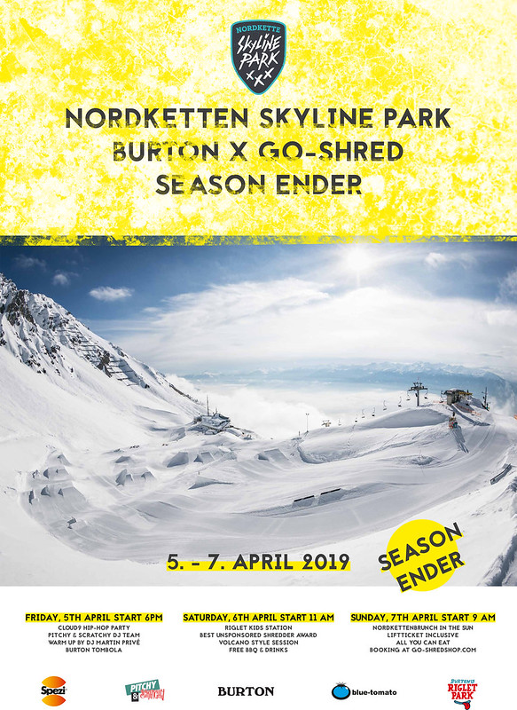 Poster Burton x go-shred Season ENDER 2019