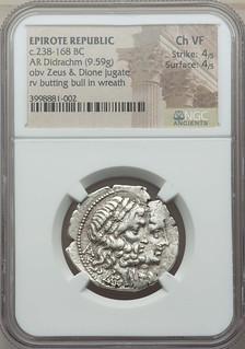 Epirote Republic coin obverse