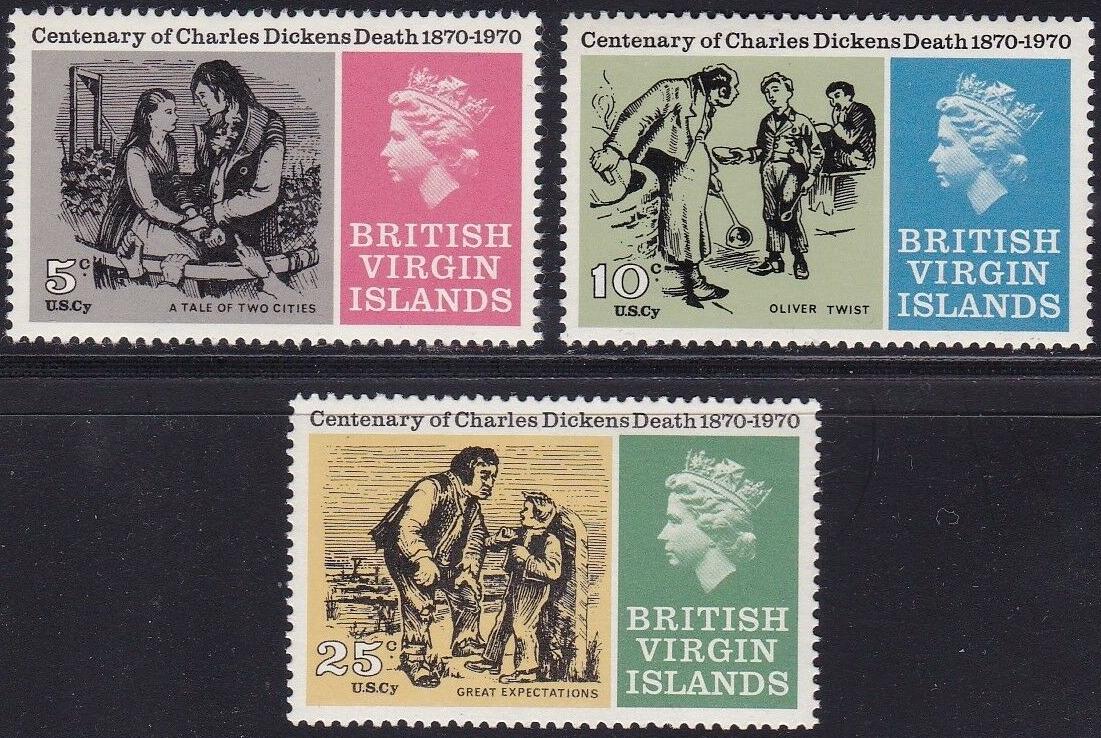 British Virgin Islands - Scott #223-225 (1970)