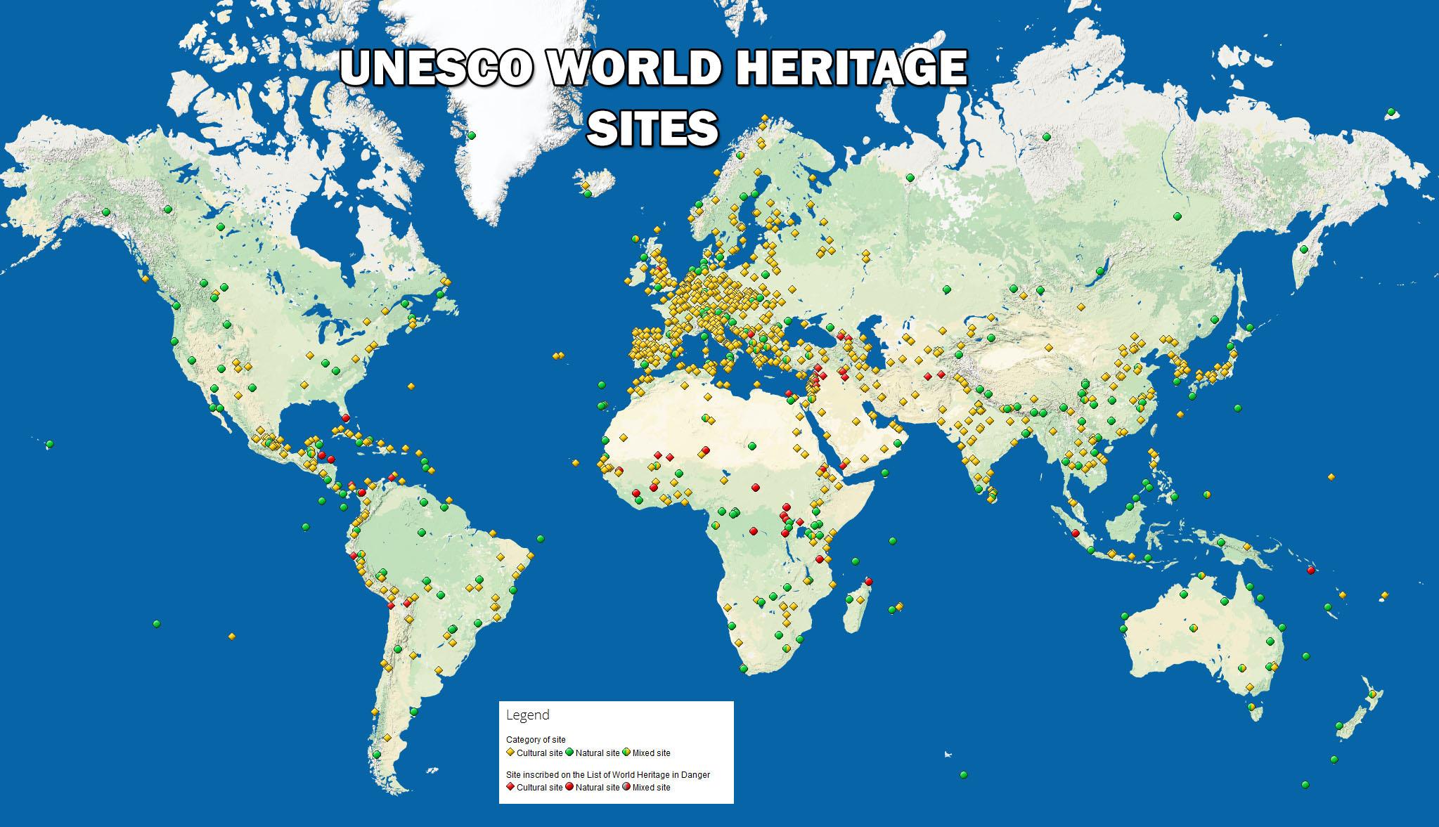 Map of UNESCO World Heritage Sites