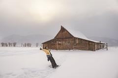 New Year's Day 2013 Snowshoe - Moulton Barn, Grand Teton National Park Wyoming