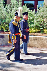 Officers Walk By After Parade, Frontier Forts Days, 2005