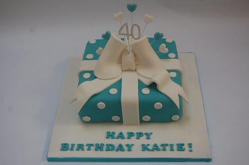 Fabulous Beautiful Blue Present Cake Beautiful Birthday Cakes Funny Birthday Cards Online Chimdamsfinfo