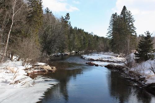 bonshaw pei canada river trees snow winter