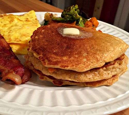 whole grain oat pancakes are an easy dinner idea