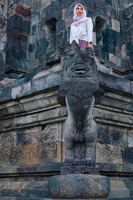 Patung Singa Candi Ngawen Muntilan