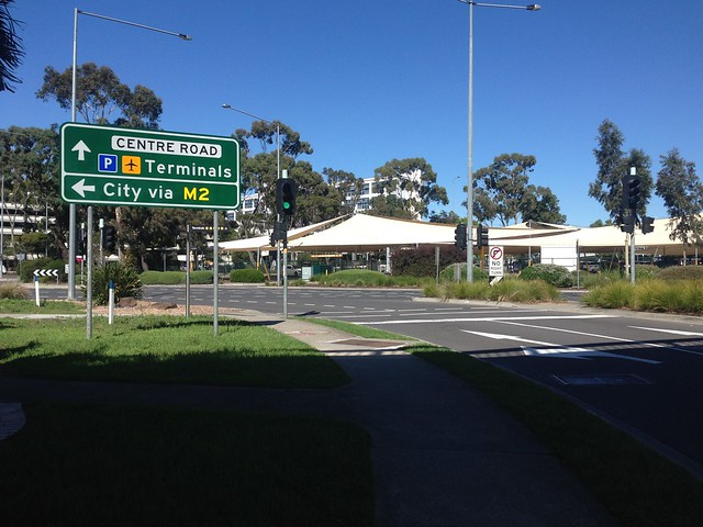 Entrance to Melbourne Airport from Marker Road