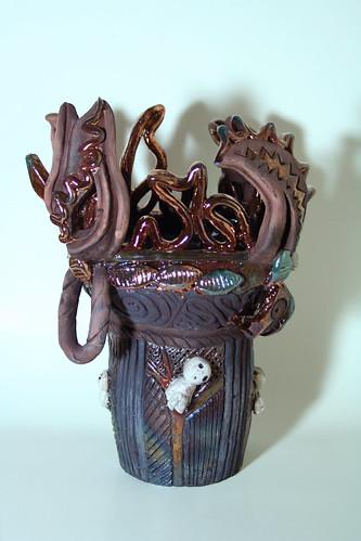 Dancing Flame Vase with Kodama_1365 3
