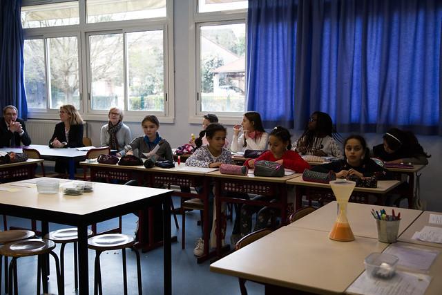 Visite de la rectrice, École Les Près Blagnac, 13  mars 2019