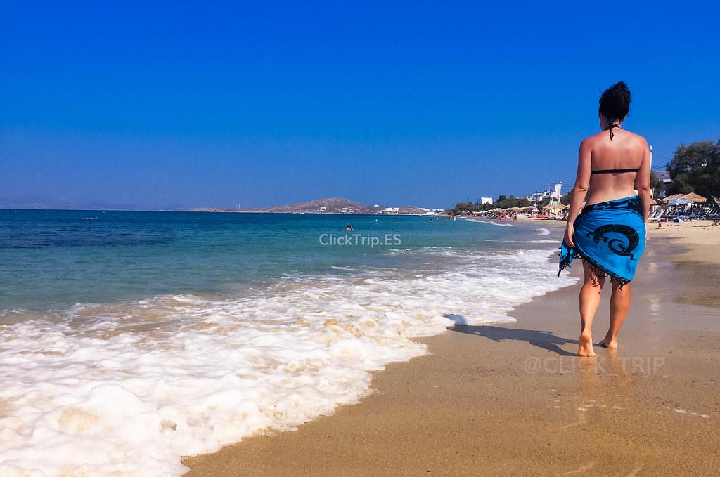 · Agia Anna, una de las mejores playas de Naxos ·