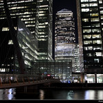 View across the South Dock, Canary Wharf, London, UK