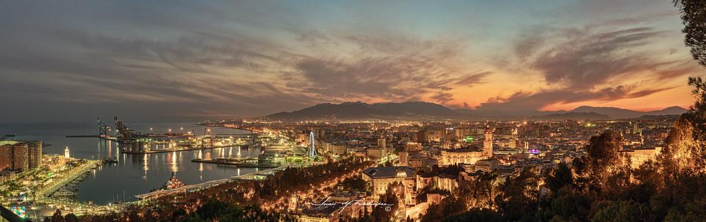 Málaga desde Gibralfaro en Urbana y Arquitectura33394108388_7ee2428ee8_b