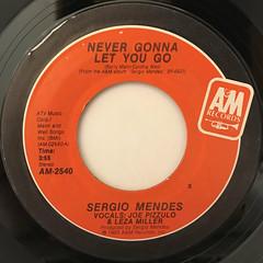 SERGIO MENDES:NEVER GONNA LET YOU GO(LABEL SIDE-A)
