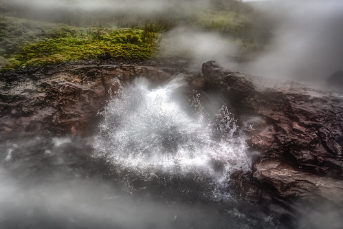 Splashing hot spring of Deildartunguhver in Western Iceland